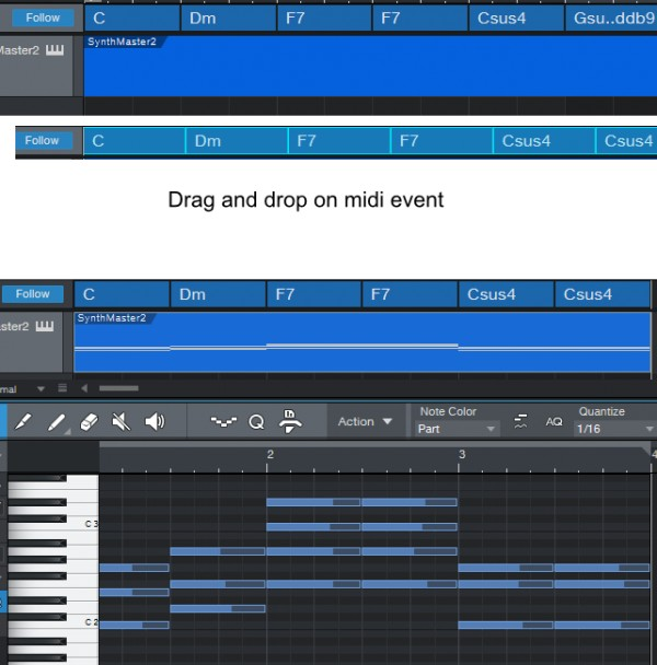 Drag & drop chords from chord track to an empty midi event
