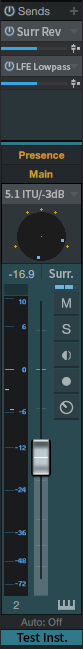 Surround Output Suggestion with Channel Strip UI