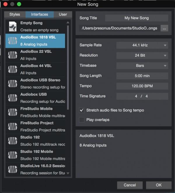 driver download presonus control universal current