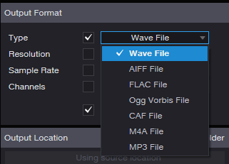 What audio file formats can Audio Batch Converter handle